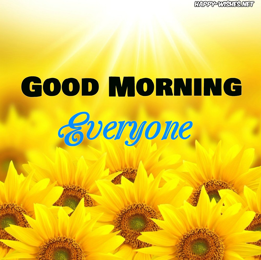 Good Morning images with Beautiful Sunflower Pattern
