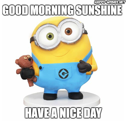 Good Morning memes with Minion images