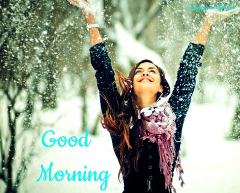 Good Morning winter Girl Images
