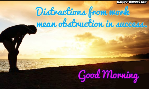 Good Morning wishes with Success quotes with keep going message