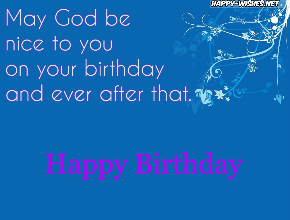 Happy Birthday Christian wishes with blue Background images