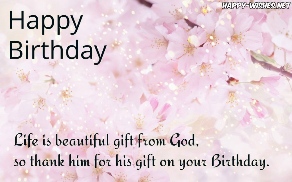 Happy Birthday Christian wishes with spirtural blessings and messages