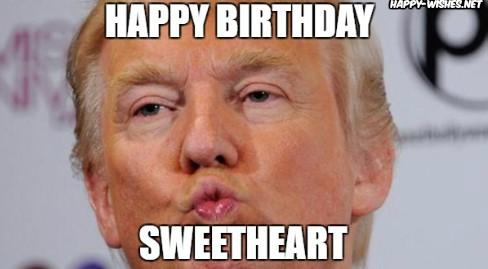 Happy Birthday Donald Trump Memes giving smooch