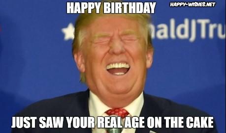 Happy Birthday Trump meme