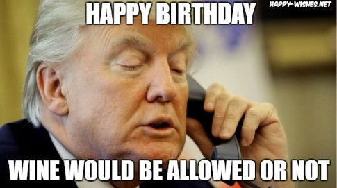 Happy Birthday mems with trump images