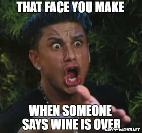 Happy Birthday wine memes for friends
