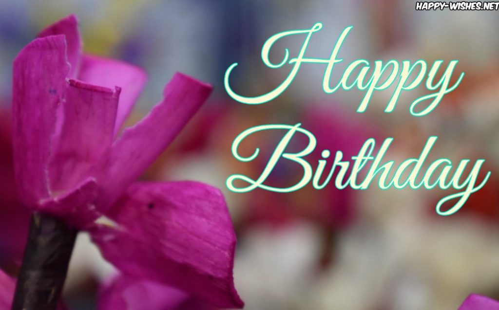 Happy Birthday wishes with flower pictures