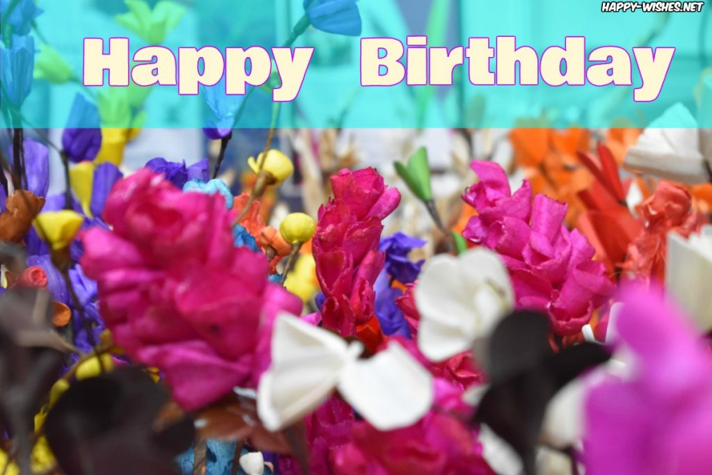 Happy Birthday with flower images