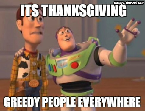 Happy Thanksgiving Greedypeople meme