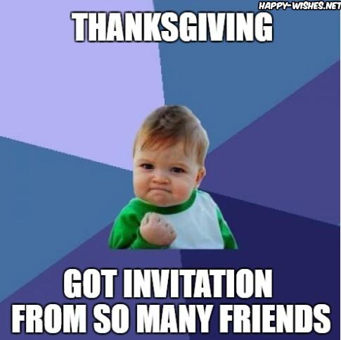 Happy Thanksgiving invitation memes