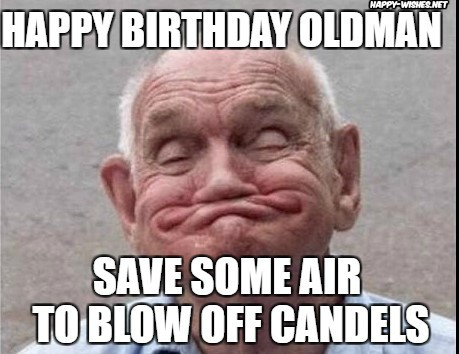 Happy birthday dog with old man images