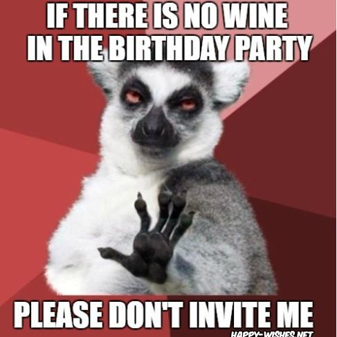 Happy birthday wine funny memes
