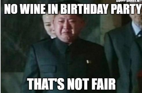 Happy birthday wine meme with Kim Zong Images
