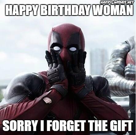 Happy birthday woman memes