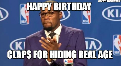 Happy birthday woman with black man clapping images