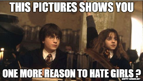Harry potter memes one more reason to hate girls