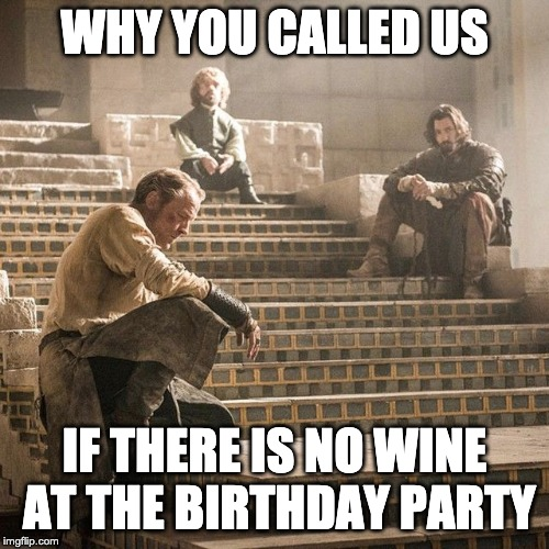 If there is no wine at birthday party