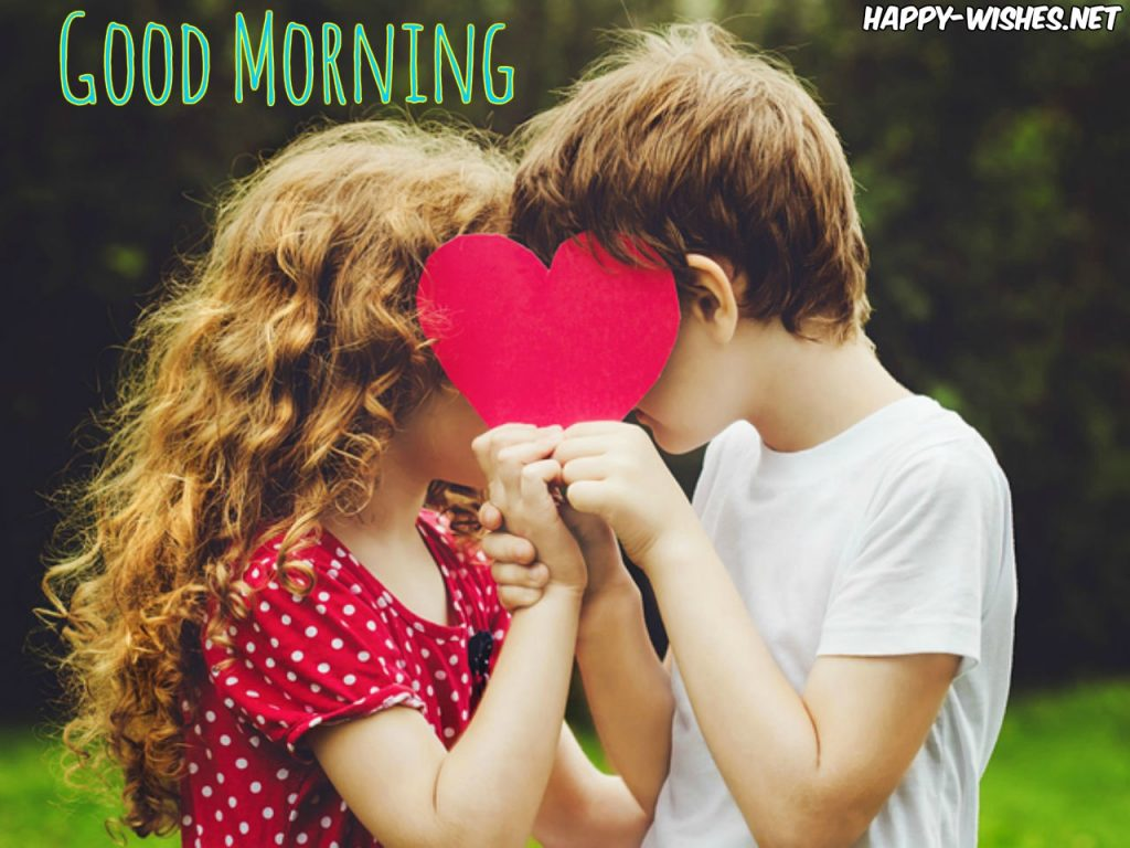 Kids Kissing Each Other in Good Morning Image