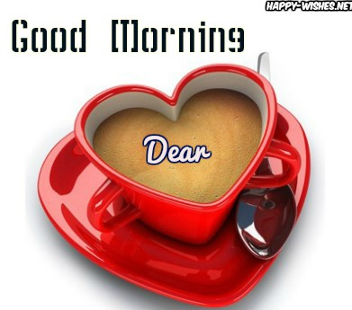Red coffee cup In Good Morning wishes
