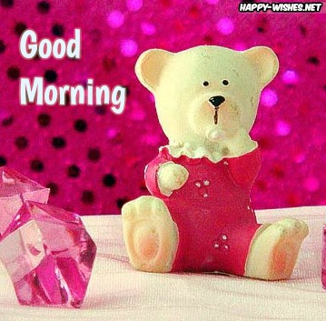 Romantic Good Morning Wishes With Teddy Images