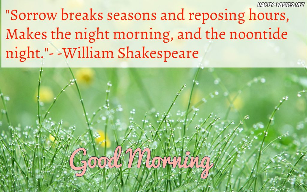 Shakespeare Quotes About Good Morning