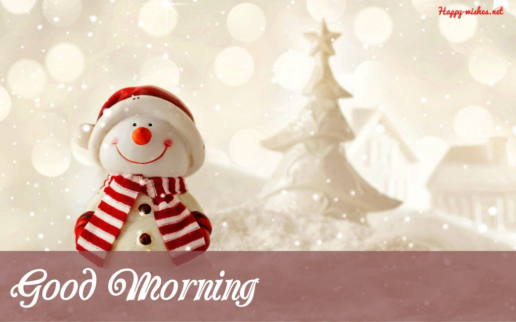 Snowman with christmas images