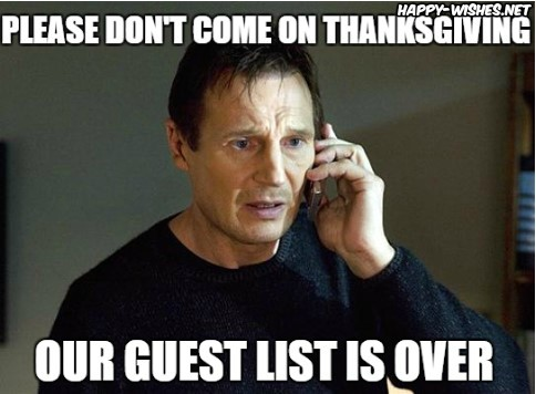 Thanks giving guest memes