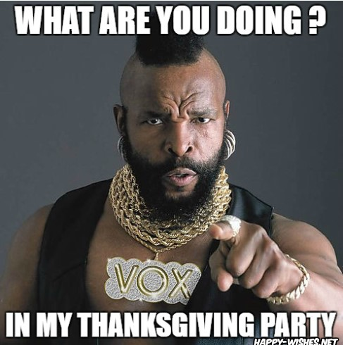 Thanks giving party meme