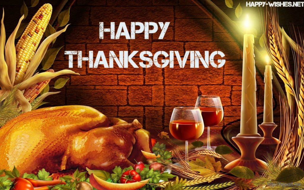 Thanksgiving dinner wallpaper