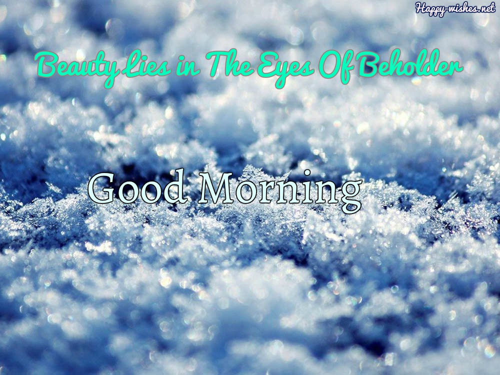 Winter Good Morning Quotes