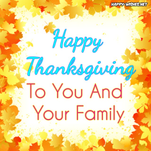 cute thanksgiving wishes for the friends