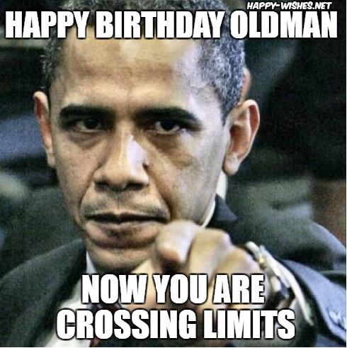 happy birthday old man meme angry obama
