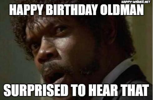 happy birthday old man meme surprised meme