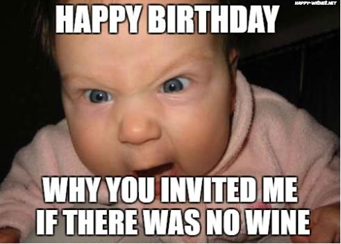 happy birthday wine meme with kids images