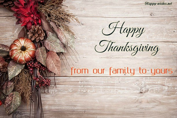 happy thanksgiving from our family to yours with best images