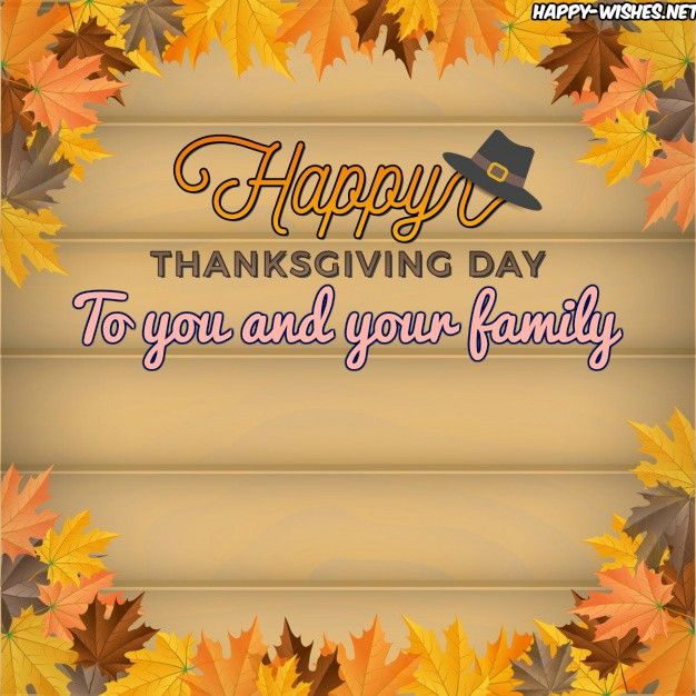 happy thanksgiving to you and your family lovely images