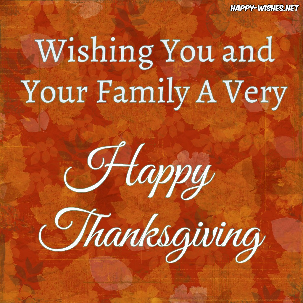happy thanksgiving to you and your family wishes and wallpapers