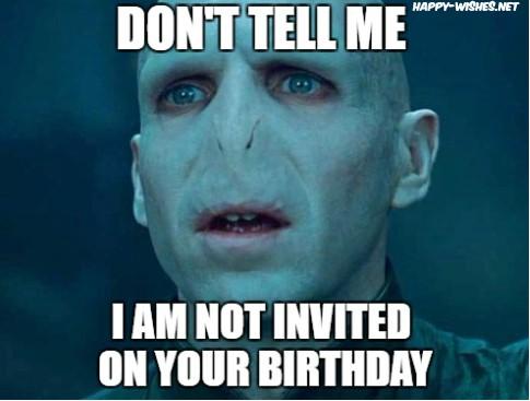 harry potter funny birthday meme for friends