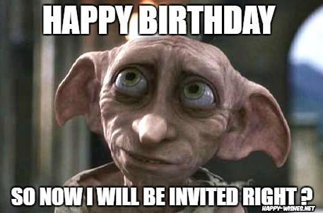 harry potter funny birthday meme robby the house elf memes