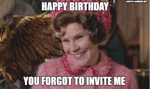 harry potter funny birthday meme with dolorus umbridge