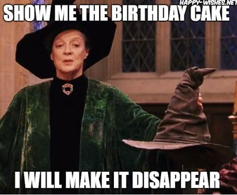 nice harry potter funny birthday meme