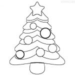 Best Christmas Tree Coloring Images for drawing and colour filling