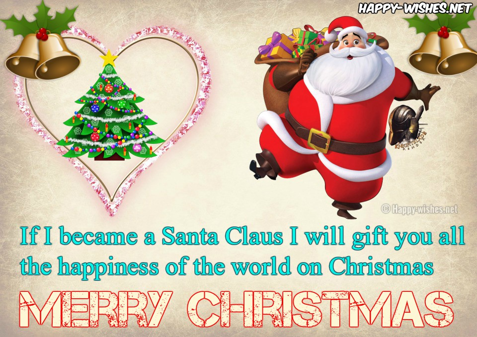 Best Christmas love quotes with santa image