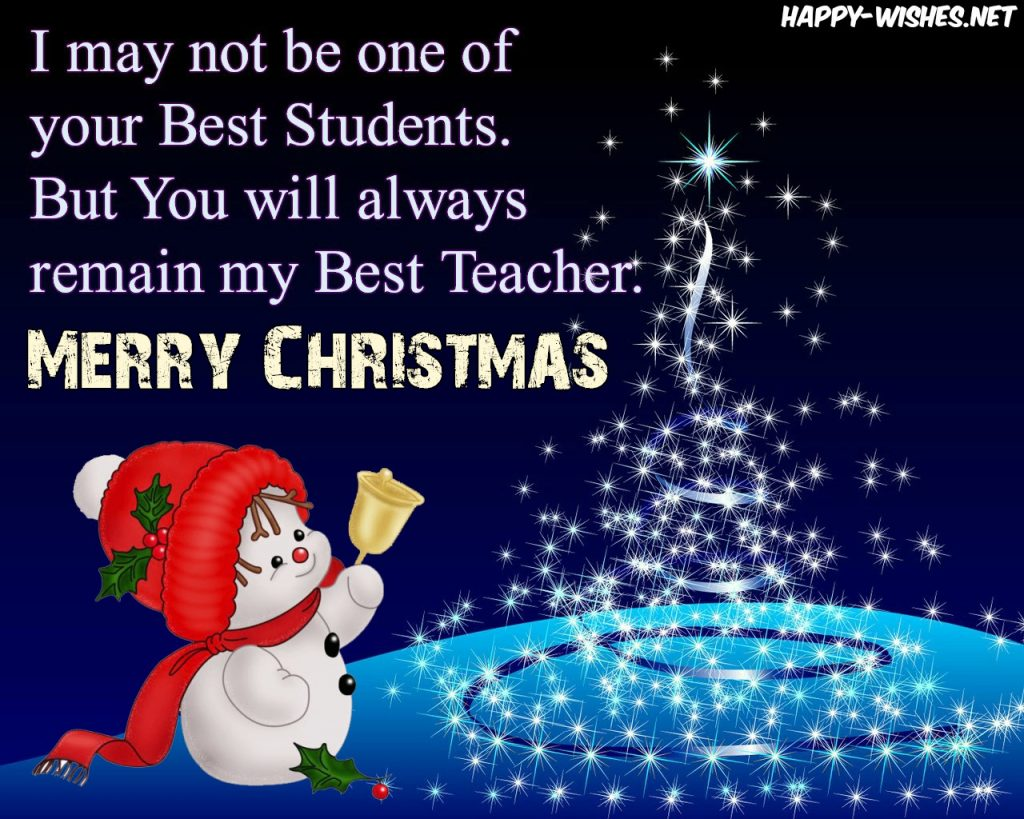 Merry Christmas Teacher Quotes.Christmas Wishes For Teachers From Students Parent