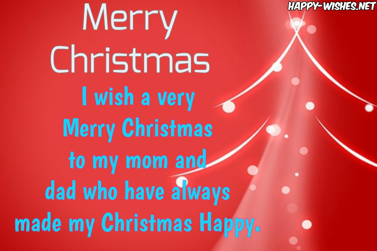 Best Christmas wishes for the best parents