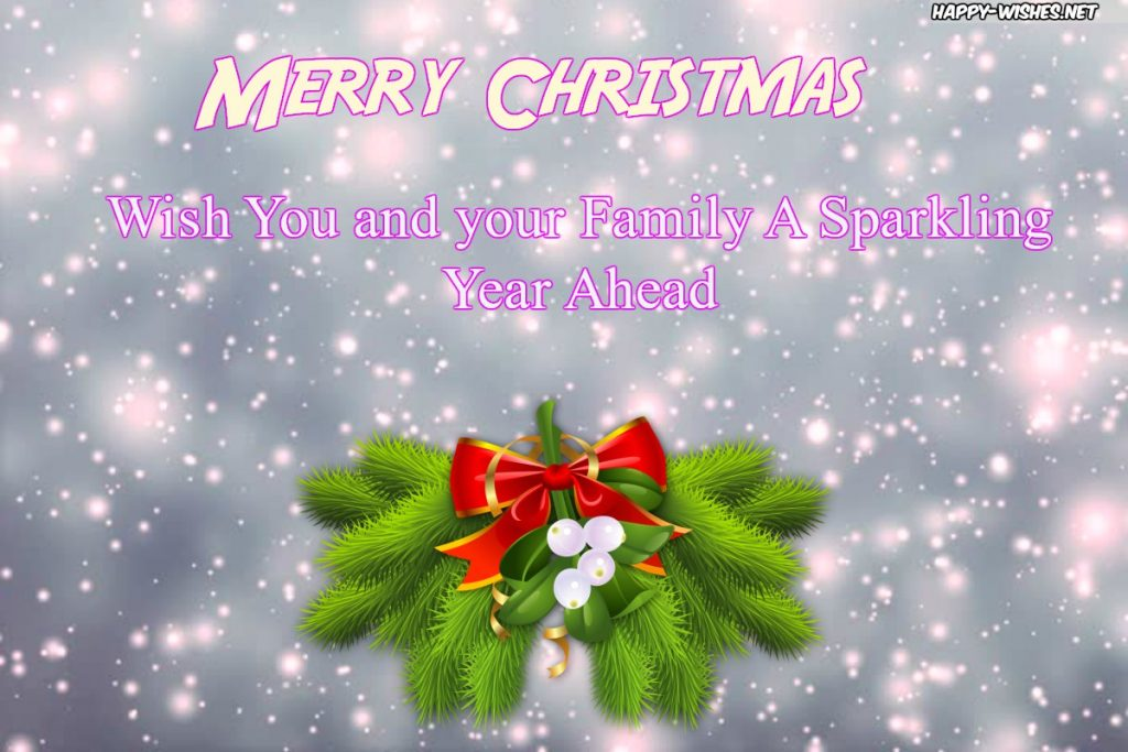 Best Christmas wishes for you and your family .