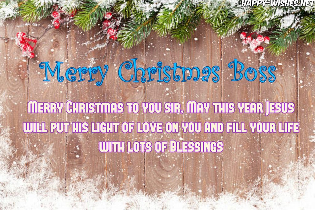 Best Merry Christmas Wishes For The Boss