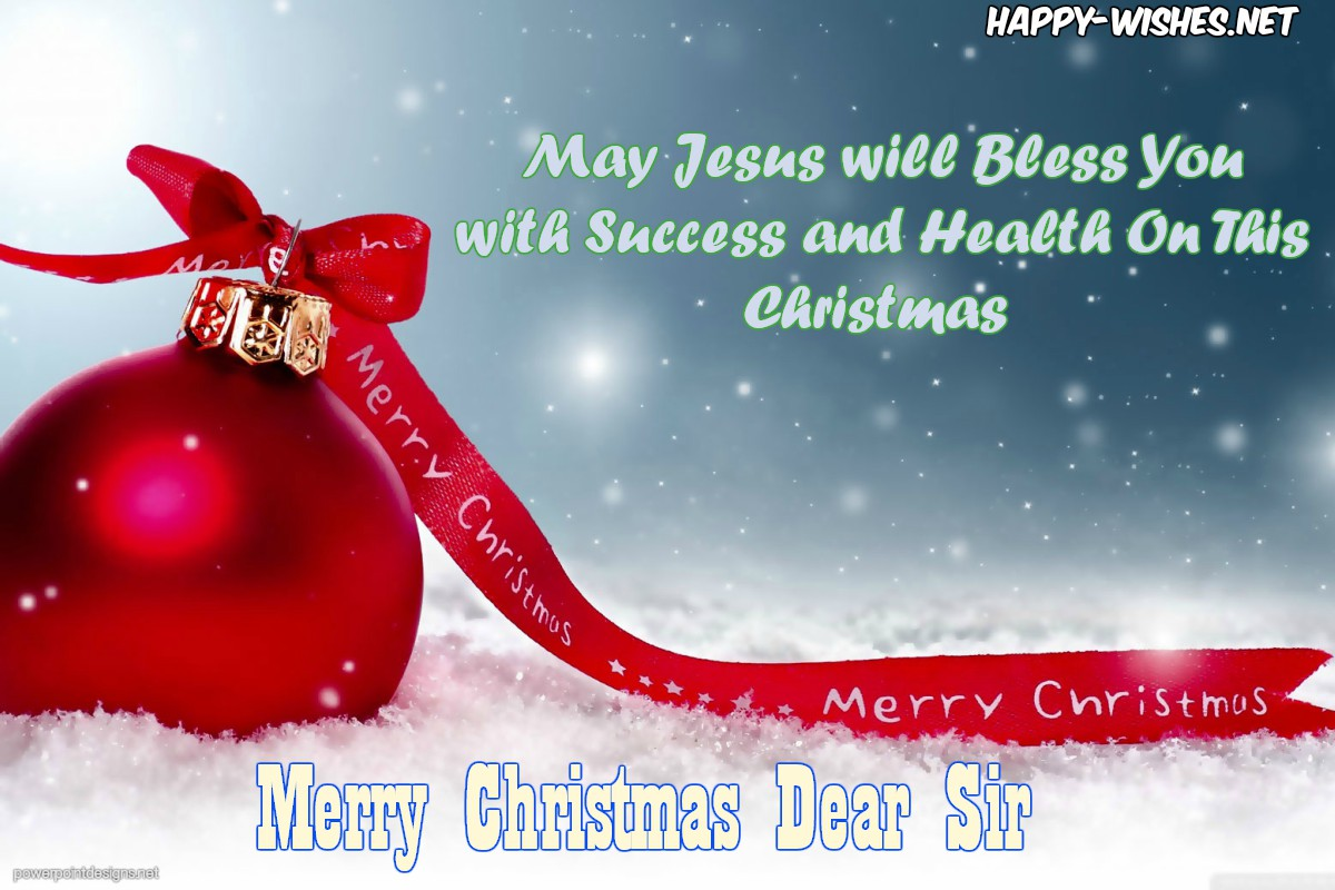 Best Merry Christmas Wishes For The Senior Boss