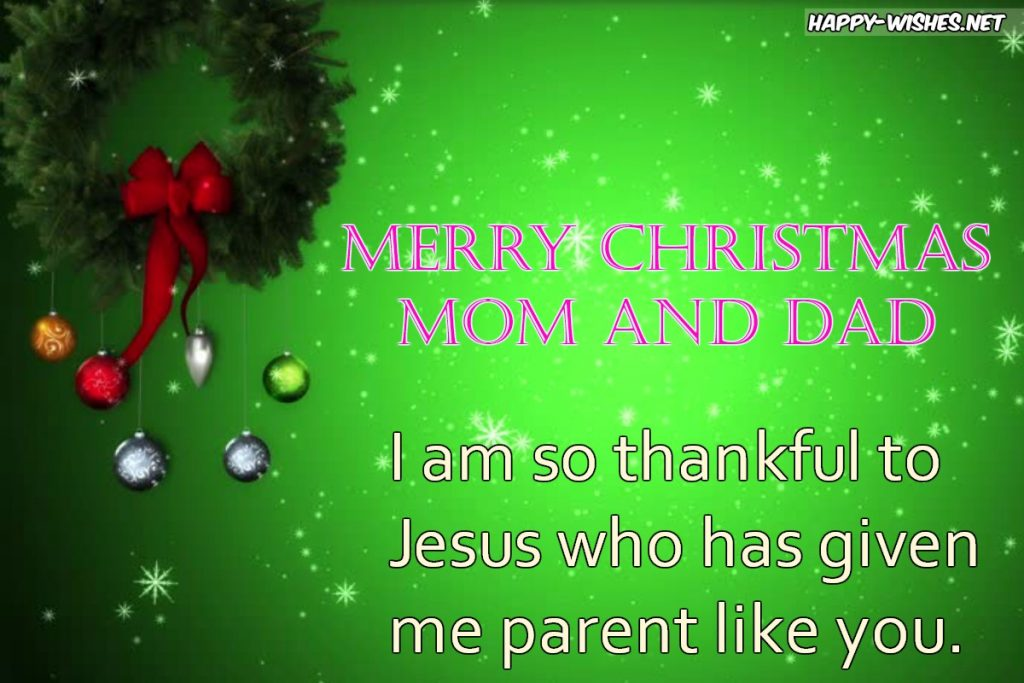 Best Merry Christmas wishes for Parents