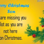 Best wishes for son on the Christmas